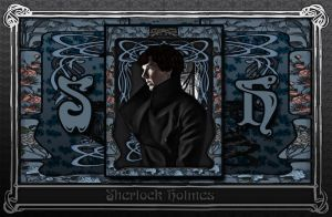 Art Nouveau Sherlock Blue V2 by Nero749
