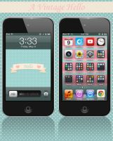iPod iPhone A Vintage Hello Wallpaper by cupcakekitten20