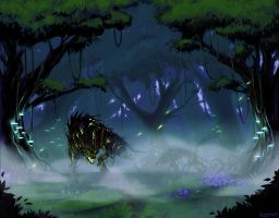 Commission: Timberwolf Forest by Eosphorite