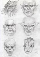Monster heads - concept by alch3mist-design