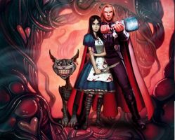 Thor and Alice: Thunder in Wonderland by Madness-Made-Fresh