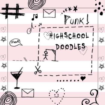 Highschool Doodles Brush Set by Red--Roses