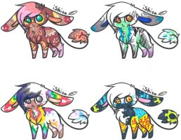 Wire Tailed Bunny Adopts [CLOSED] by Squidoptables
