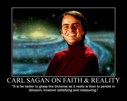 Carl Sagan on faith and reality by fiskefyren