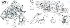 KOI v2 concept part 1 by Loone-Wolf