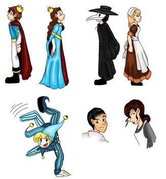 Medieval Characters .Colour by Doodlz18