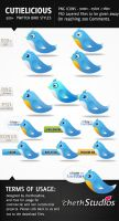 Cutielicious- 500+Twitter Bird by cheth
