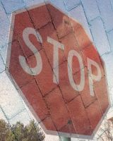 Brick Stop Sign by whatsername57