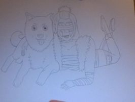 Naruto OC Sketch: Bikou and Shiromaru by Almost---There