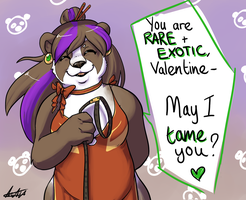 Pandaren Hunter Valentine by hedjeroo