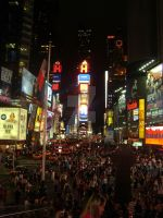 Times Square by Melaniiiie