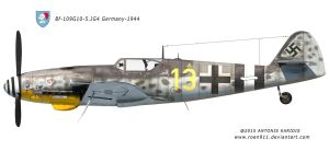 BF-109 G10 - 5.JG4 Germany 1944 by rOEN911