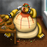 Obese Bowser by DragonDoctor