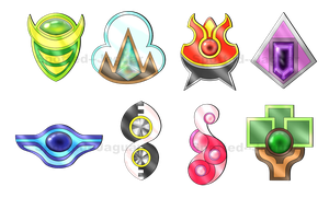 Terevan Gym Badges by Spotted--Jaguar