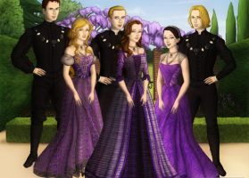 The Cullens in Breaking Dawn by girlink
