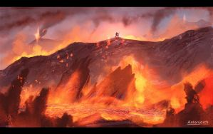 Surrounded by fire by antonjorch