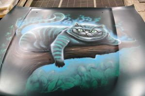 airbrush Cheshire Cat by Goth-o-GraFX
