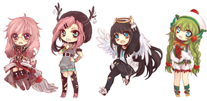 [10.6.2013] chibi commissions by akiicchi