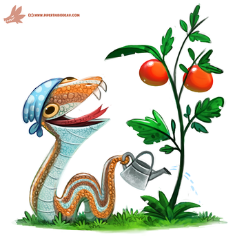 Daily Paint #1149. Garden Snake by Cryptid-Creations
