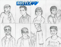 commodoreHUSTLE cast sketch by AC-Drawings