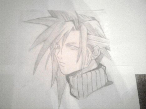Cloud Strife by Chris Marsh (Aged 12) by ChrisMarshXD