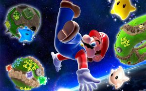 Mario And Planets Wallpaper by DJcube