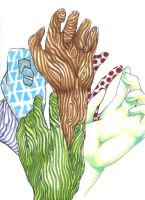 Patterned Hands by kephre