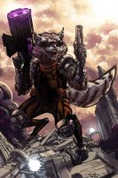 Rocket Raccoon - Biram Ba colors by SpiderGuile