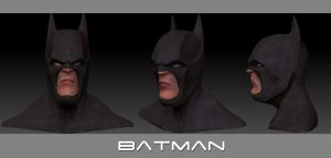 Batman Bust by snakes23
