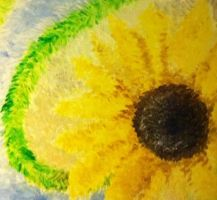 sunflower painting by loveroffae