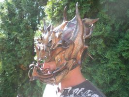 Dark Troll Dragon Helmet side by Skinz-N-Hydez