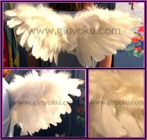 Mini White Cherub Wings by JunieNicole