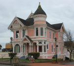 Pink Victorian house by finhead4ever