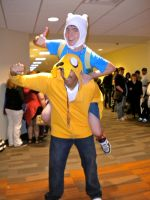 Finn and Jake Cosplay by tdj1337