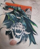 batman tattoo chest piece by carlyshephard