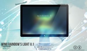 windows 8 rainbow's light v.1 wallpaper by enemia
