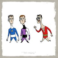 Little Friends-Mr.Fantastic and ElongatedMan and.. by darrenrawlings