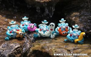 Polymer Clay Robots Love Sea Creatures by KIMMIESCLAYKREATIONS