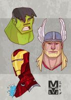 HULK THOR IRONMAN by MekareMadness