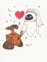 WALL-E and EVE Entry One by PixarPlanetdA