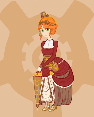 Steampunk Contest - the Fashionable by AbyLockhart