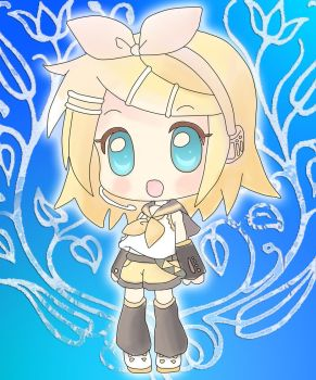 Kagamine Rin Chibi Colored by zer0byt3