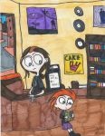 Gnat at The Record Store by Millie-the-Cat7