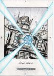 Optimus Prime sketch IDW TF Collection Black Label by MarceloMatere