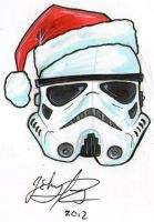Stormtrooper Christmas Card by johnnyism