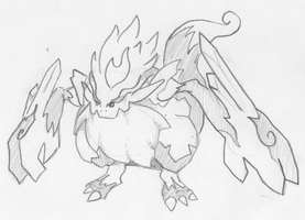 Fire-Ice fakemon 3rd evo by XDinky
