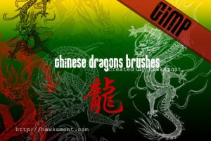 GIMP: Chinese Dragons by hawksmont