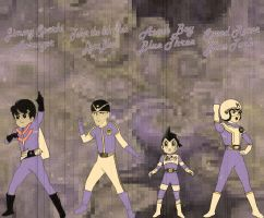 60's Anime Retro Blue Rangers for Andr-Uril by rangeranime