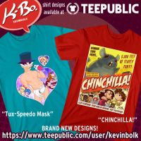 New Shirt Designs! Tux-Speedo Mask + CHINCHILLA!! by kevinbolk