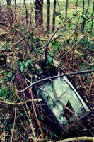 Busted Down T.V. Set by AcceptedOutcast